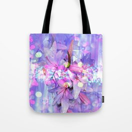 LILY IN LILAC AND LIGHT Tote Bag