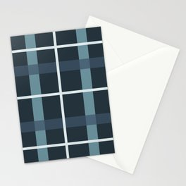 Kindred Plaid Ocean Stationery Cards