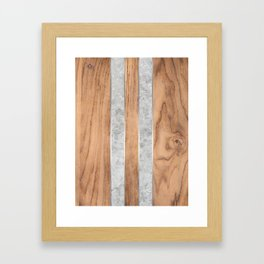 Wood Grain Stripes - Concrete #347 Framed Art Print
