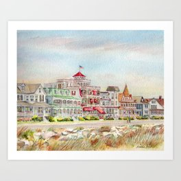 Cape May Promenade Art Print