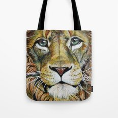 Lion Gaze Tote Bag