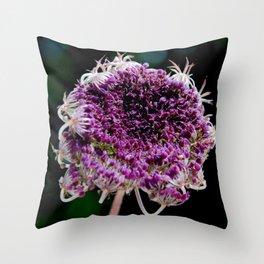 field carmine flower Throw Pillow