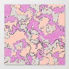 Cartografía de Orquídea  Canvas Print