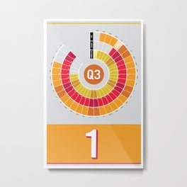 2014 Calendar Q3 Metal Print