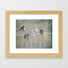 Laundry Day Let's Do Laundry Framed Art Print
