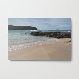 Sandwood Bay with Sea Stack Metal Print