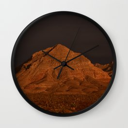 Desert Alpenglow Wall Clock