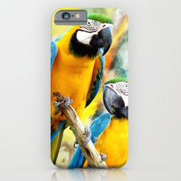 Macaw friends iPhone Case