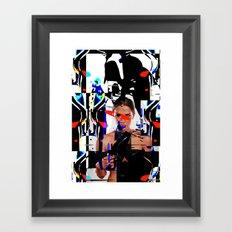 The girl of surealism Framed Art Print