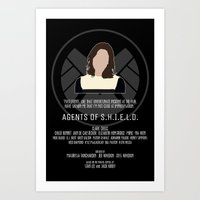 agents of shield Art Prints featuring Agents of S.H.I.E.L.D. - Simmons by MacGuffin Designs