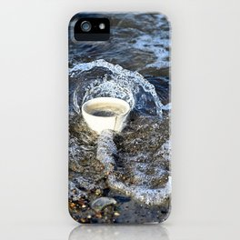 Splashing over Obstacles iPhone Case