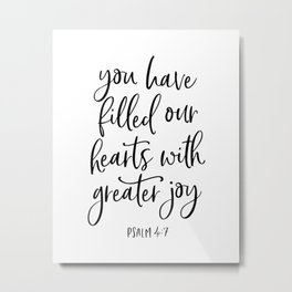 YOU HAVE FILLED OUR HEARTS by DearLilyMae Metal Print