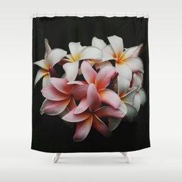 Flowers In The Dark Shower Curtain