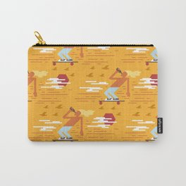 Skateboarders Holiday Pattern Carry-All Pouch