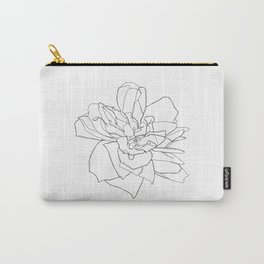 Single rose illustration - Magda Carry-All Pouch
