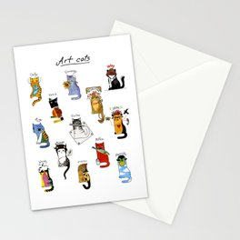 Legendary Art cats - Great artists, great painters. Stationery Cards