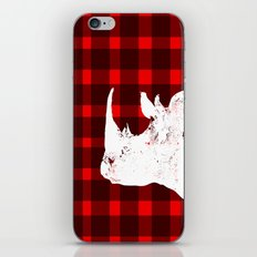 Animals Illustration - Rhinos iPhone & iPod Skin