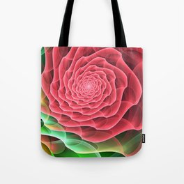 Swirling into a Rose Tote Bag