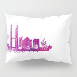 Kuala Lumpur skyline purple Pillow Sham