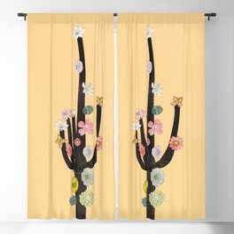 Flowering Cactus Blackout Curtain