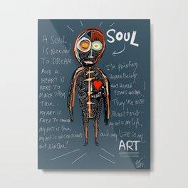 Heart and Soul street art graffiti art brut painting Metal Print