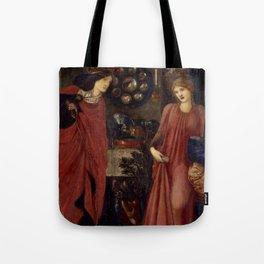 """Edward Burne-Jones """"Fair Rosamund and Queen Eleanor"""" Tote Bag"""