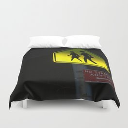 NO STANDING ANYTIME. Duvet Cover