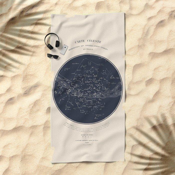Carte Celeste Beach Towel