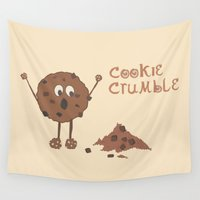 cookie Wall Tapestries featuring Cookie Crumble by Creative Lore
