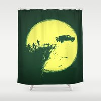 zombie Shower Curtains featuring Zombie Invasion by Picomodi