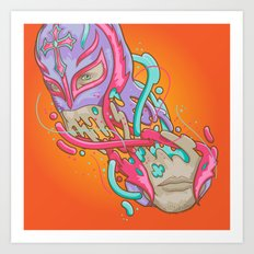 Happily melting Rey Mysterio Art Print