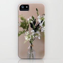 Wisteria White iPhone Case