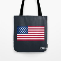 scandal Tote Bags featuring Scandal - Minimalist by Marisa Passos