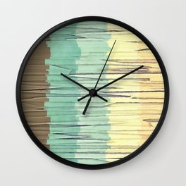 Shreds of Color 2 Wall Clock