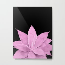 Pink Agave on Black #1 #tropical #decor #art #society6 Metal Print