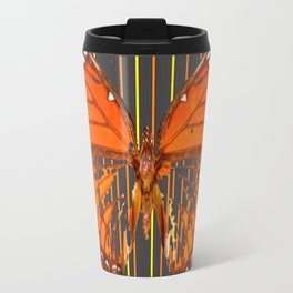 OLD WORN DESICCATED BUTTERFLY PATTERN ART Travel Mug