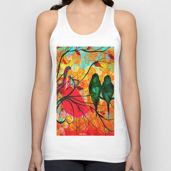 """"""" O free birds, proud, charming, pure, without troubles."""" Unisex Tank Top"""