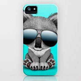 Cute Baby Koala Bear Wearing Sunglasses iPhone Case