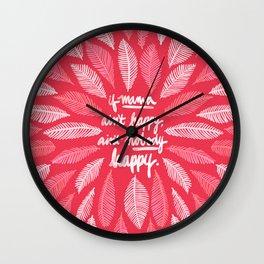 If Mama Ain't Happy – Pink Wall Clock