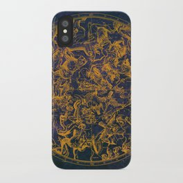 Vintage Constellations & Astrological Signs | Purple Galaxy iPhone Case