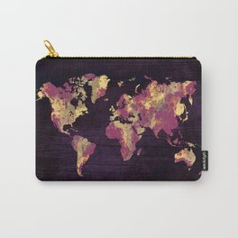 world map 86 red yellow Carry-All Pouch