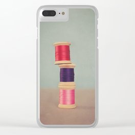 Thread Stack Clear iPhone Case