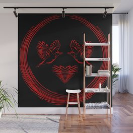 Love birds for the heart and soul. Wall Mural