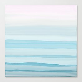 Watercolor pink and blue Canvas Print