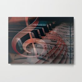 Piano Pianist Note Piano Metal Print