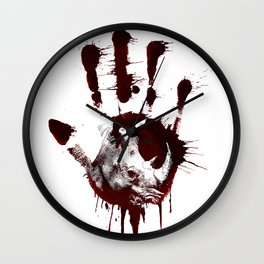Conflict of Rhino Wall Clock