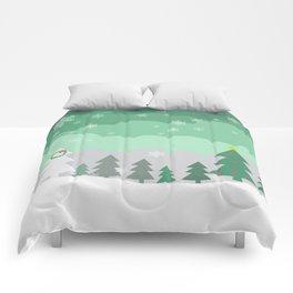 christmas woods Comforters