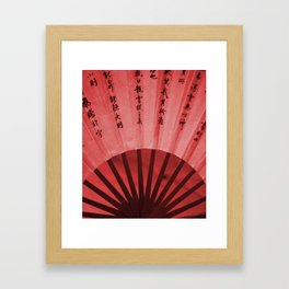 Chinese Umbrella in red Colors Framed Art Print