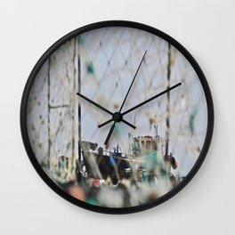Through the Lobster Cages Wall Clock