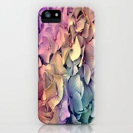 Soft Multi Color Hydrangea iPhone Case